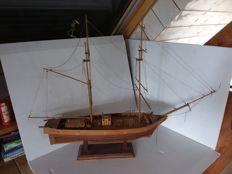 Large wooden sailing boat