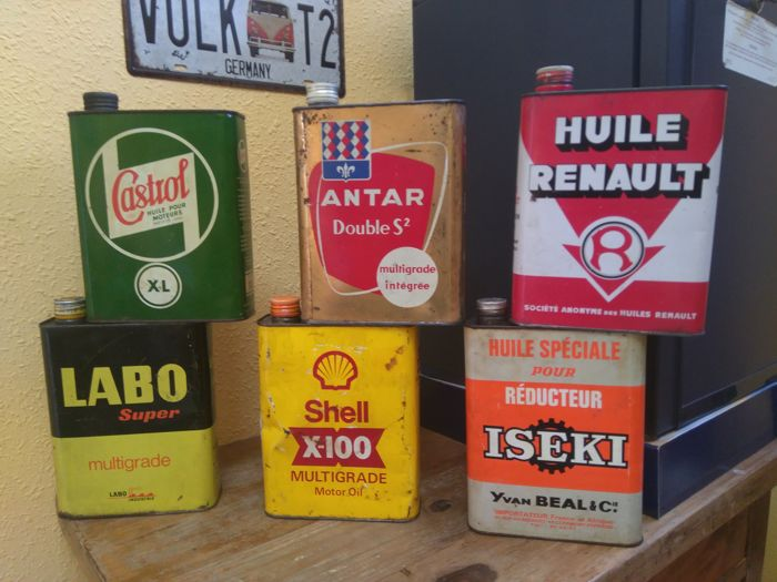 rare lot of vintage oil cans of 40s 50s 60s catawiki. Black Bedroom Furniture Sets. Home Design Ideas