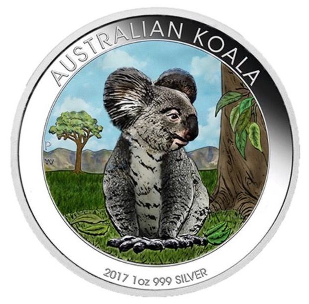 Australia - 1 dollar 2017 'Kookaburra' coloured edition - 1 oz silver