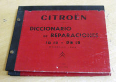 Catalogue of Citroën ID 19 and DS 19 spare parts