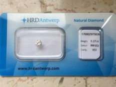 0.27 ct brilliant cut diamond G VS1