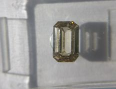 1.00 ct Emerald cut diamond Fancy Light Pinkish Brown SI1