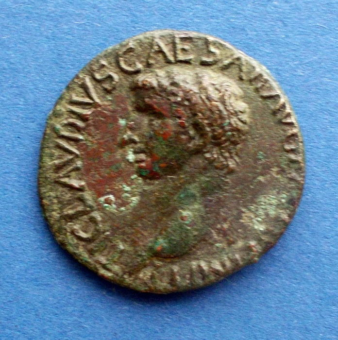 Roman Empire - bronze As of emperor Claudias, 41-54 AD, bust to left