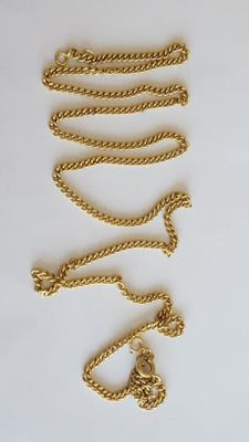 18 K Vintage Solid Gold Chain - 57 cm