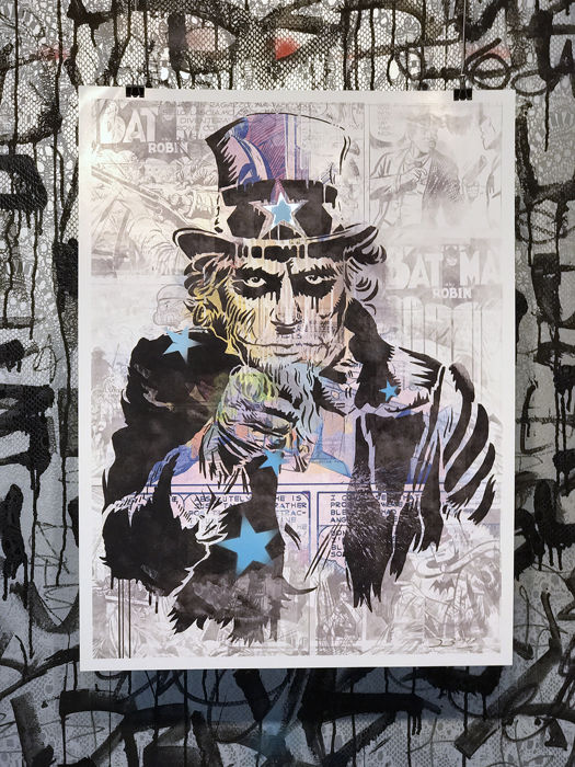 Dillon Boy Uncle Sam Joker Graffiti Art Catawiki