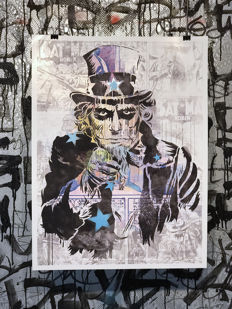 Dillon Boy - Uncle Sam Joker - Graffiti Art