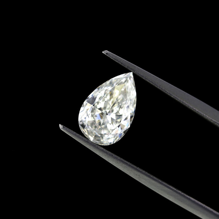 1.68 Ct. Natural F color Pear Shape diamond.