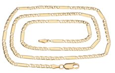 14 kt yellow gold Figaro link necklace – Length 56.3 cm.