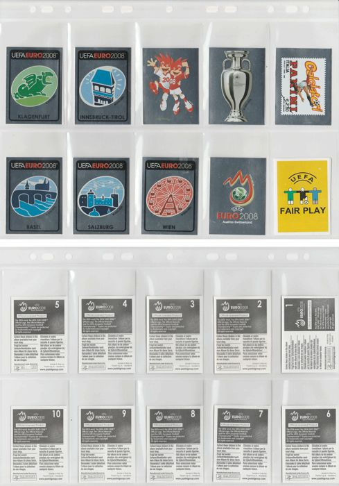 Panini - Euro 2008 - Complete set of loose stickers - 535 pieces.