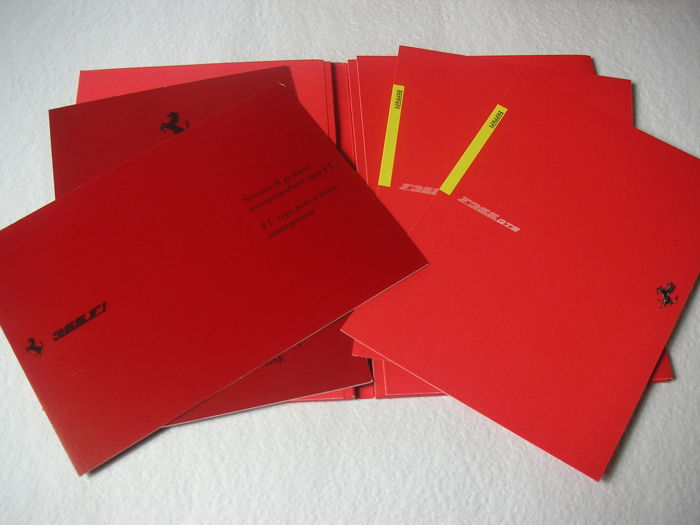 FERRARI –  4 Brochures of Ferrari 355 and its versions, in original Ferrari folder.