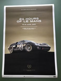 Ford Collection - fine art print - Ford GT 40 MKII-A #2 - Le Mans 24 Hours in 1966 - 70 cm X 50 cm
