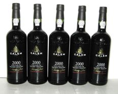 2000 Calem Colheita Port, bottled in 2017 – Lot of 5 bottles