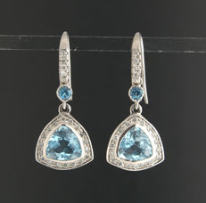 Diamond Earrings excellent quality ***no reserve price***