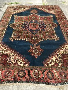 Hand knotted  persian heriz rug 1930' size:345x245 cm
