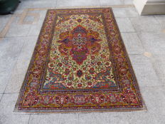 GEORGEOUS hand-knotted Persian carpet, 210/138 CM, the end of 19TH CENTURY