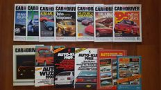 Lot of 7 Car and Driver magazines and 6 Yearbooks