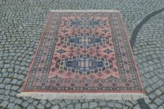 HAND-KNOTTED CASHMERE BOKHARA RUG, 197/130 CM