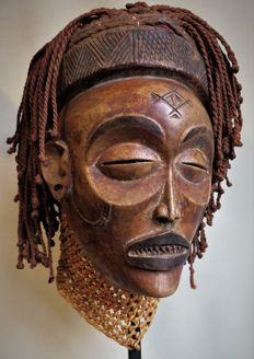 Beautiful Mwana Pwo Mask - CHOKWE - Angola