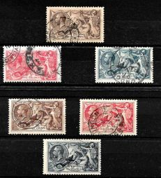 Great Britain -King george V th. seahorse sets from 1918 and 1934