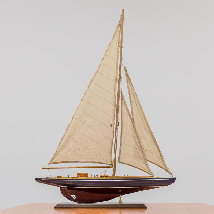 Large detailed finished wooden sailing boat