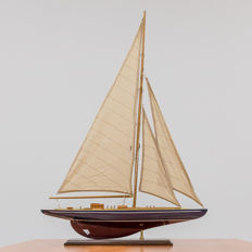 A beautiful wooden sailing boat