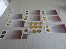 12 pcs of tokens and various of the Dutch Royal Family, including 12 tokens
