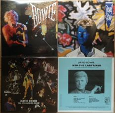 Great collection of David Bowie II 4 LP's II Mint in sealing