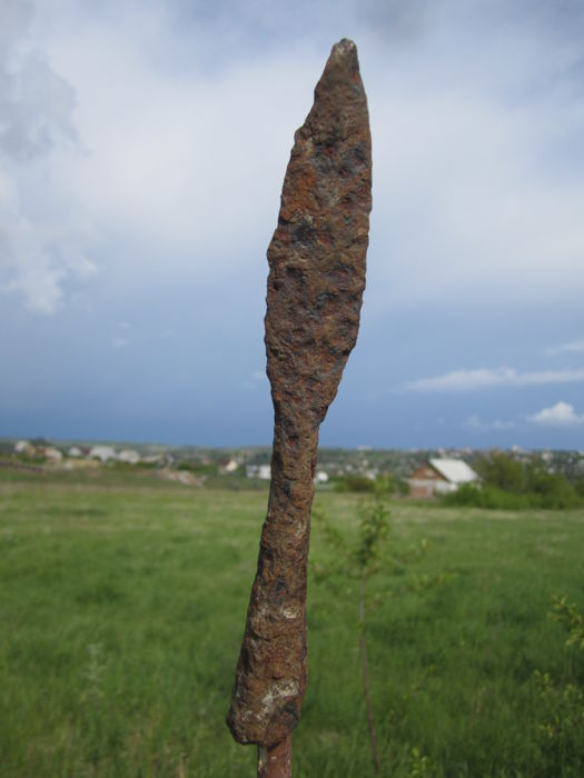 Medieval iron spearhead -183 mm