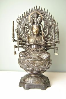 Bronze Avalokiteśvara Guanyin – Tibet – Early 20th century