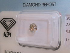 0.61ct Brilliant Cut Diamond Grey  I1 Sealed