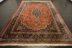 Very beautiful fine antique Persian palace carpet Kashan Keshan finest wool made in Iran, 210 x 300 cm