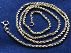 14kt gold necklace; length 50cm