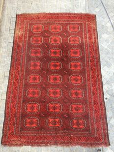 Lovely large antique Turkmen Afghan rug handmade 186x276 cm