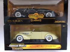 Ertl - Scale 1/18 - Auburn 851 Boat tail Speedster Super Charged 1935 and Cord 812 Convertible 1937