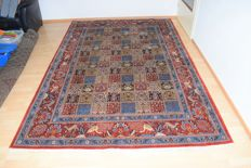 Persian carpet Ghom tile motif with silk - 2nd half 20th century - 300 x 200 cm