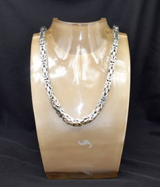 Italian sterling silver chain, length: 60 cm