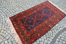 UNIQUE PERSIAN BELUCH KNOTTED WOOLLEN CARPET 198/107