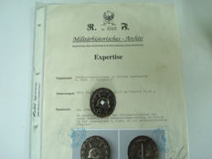 Wounded badge in silver 1st form