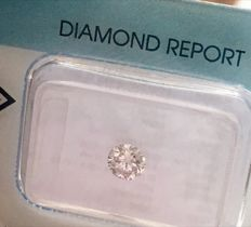 Natural Diamond Light Pink  0.37 ct – not treated – Brilliant Cut = Very Good – high value with *** Low Reserve Price ***