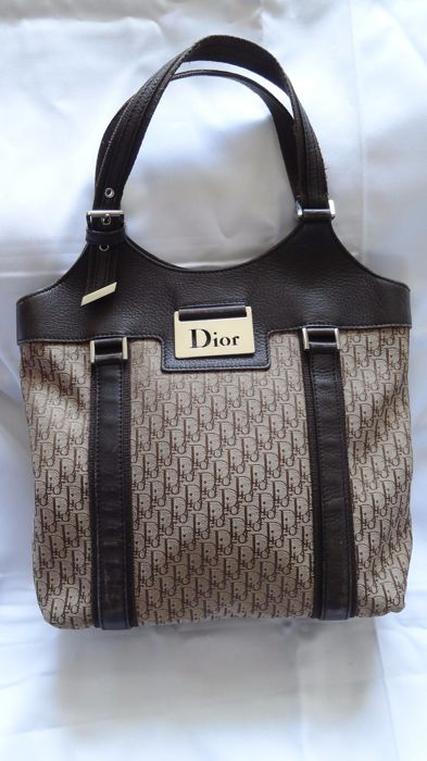 96f985cd4f23 Christian Dior Trotter pattern hand Tote Bag Canvas    No reserve price