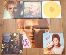 David Bowie- Lot of 4 of his great classic albums from '69 to '73: Space Oddity, Hunky Dory, Ziggy Stardust & Pin Ups