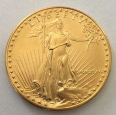United States – 50 Dollars 1987 'American Eagle' – 1 oz gold