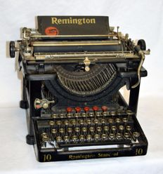 Ancient and legendary vintage typewriter Remington 10 Standard,