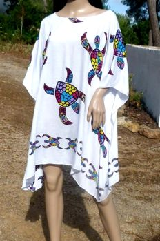 XXL Layered Look Rayon Tunic Poncho