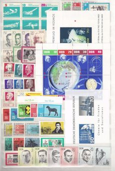 GDR 1961/1981 – Collection with all se-tenant printing, blocks and small sheets, also individual postage stamps from blocks and se-tenant printing