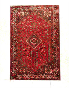 Gorgeous Persian Shiraz  RUG 245x161 cm from 1970s-1980s Immaculate Condition