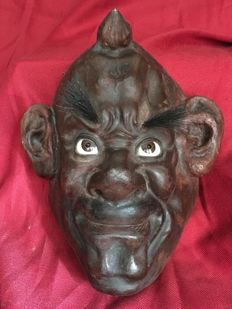 "A rare Devil? noh mask, "" noh Tengu/Oni? "" - Japan - 19th century (Meiji period 1868-1918)"