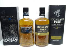 2 bottles - Highland Park - 10 Years & 15 Years -