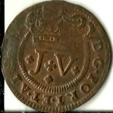 Portugal – D. João V – V Reis 1717 (Hard to find in this condition)