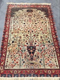 Magnificent Persian Saroukh rug, a thousand flowers, very fine, vintage, handmade, 128 x 192 cm